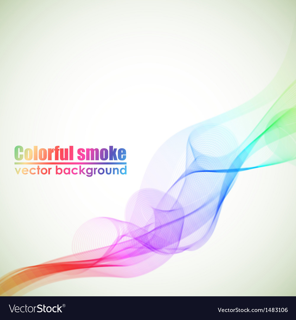 Abstract colorful smoke background with copy space