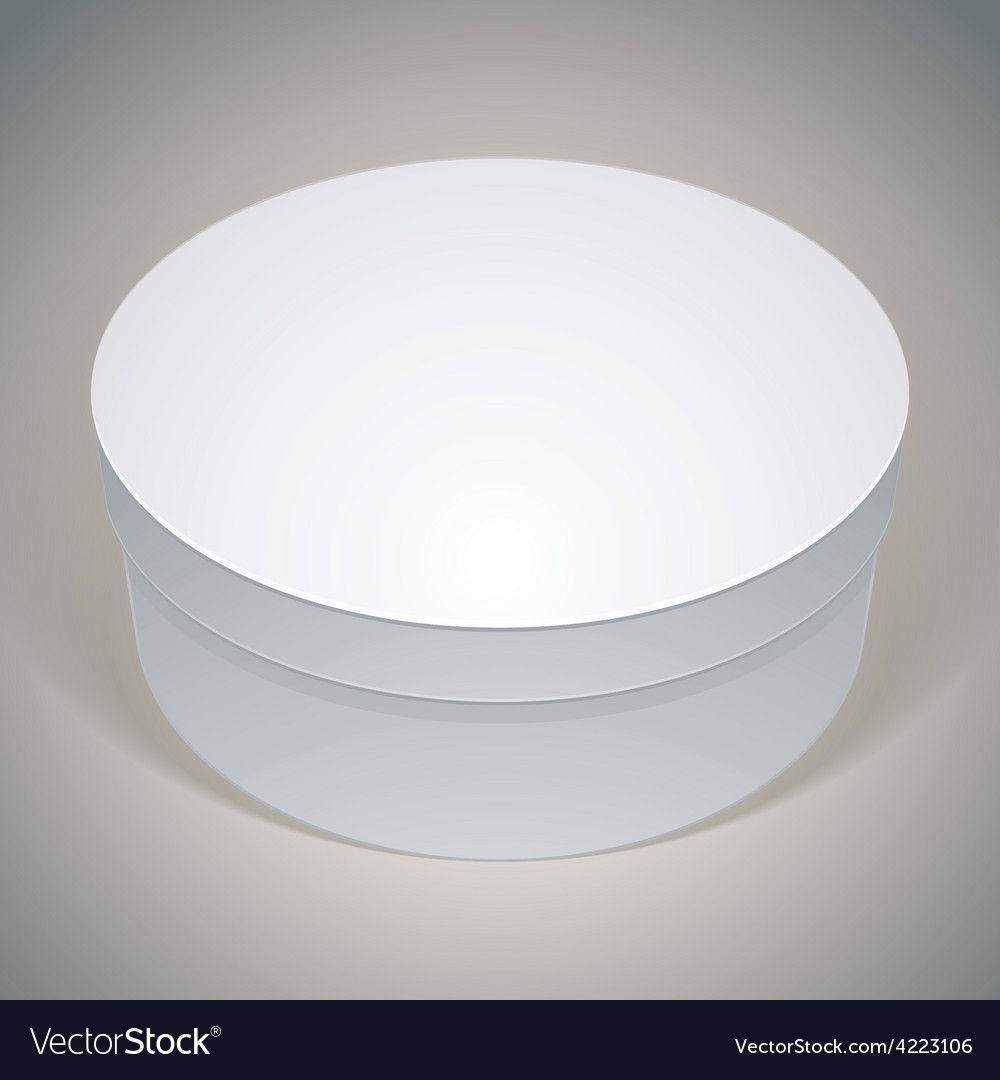 Blank round box template for your package design