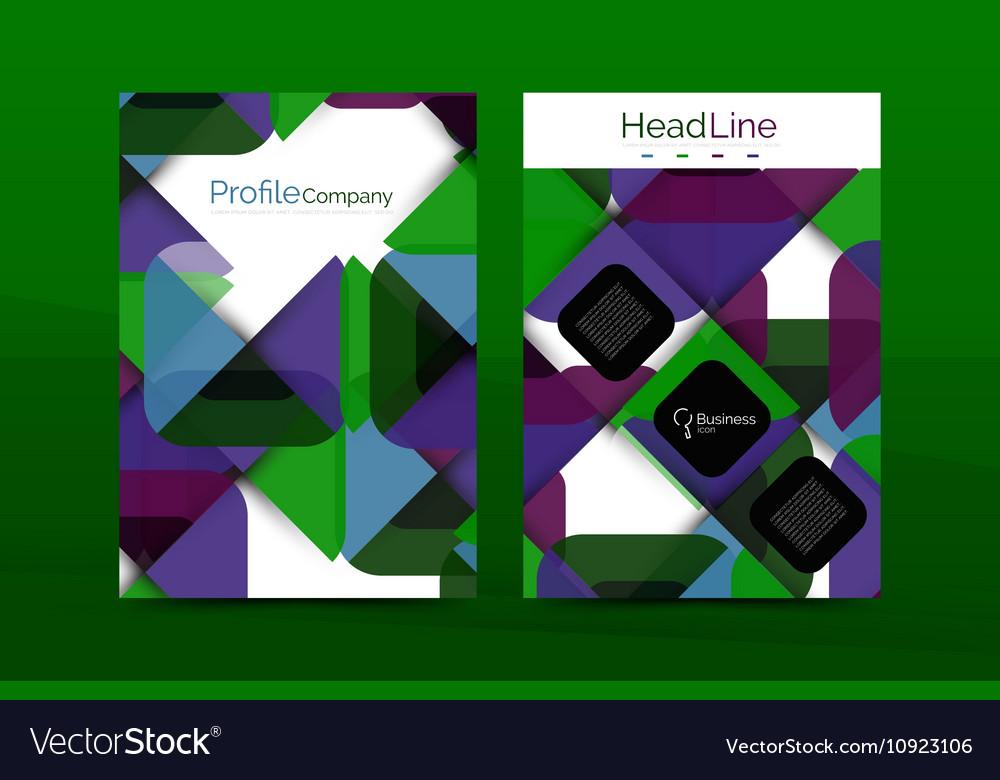 Business company profile brochure template vector image friedricerecipe Gallery