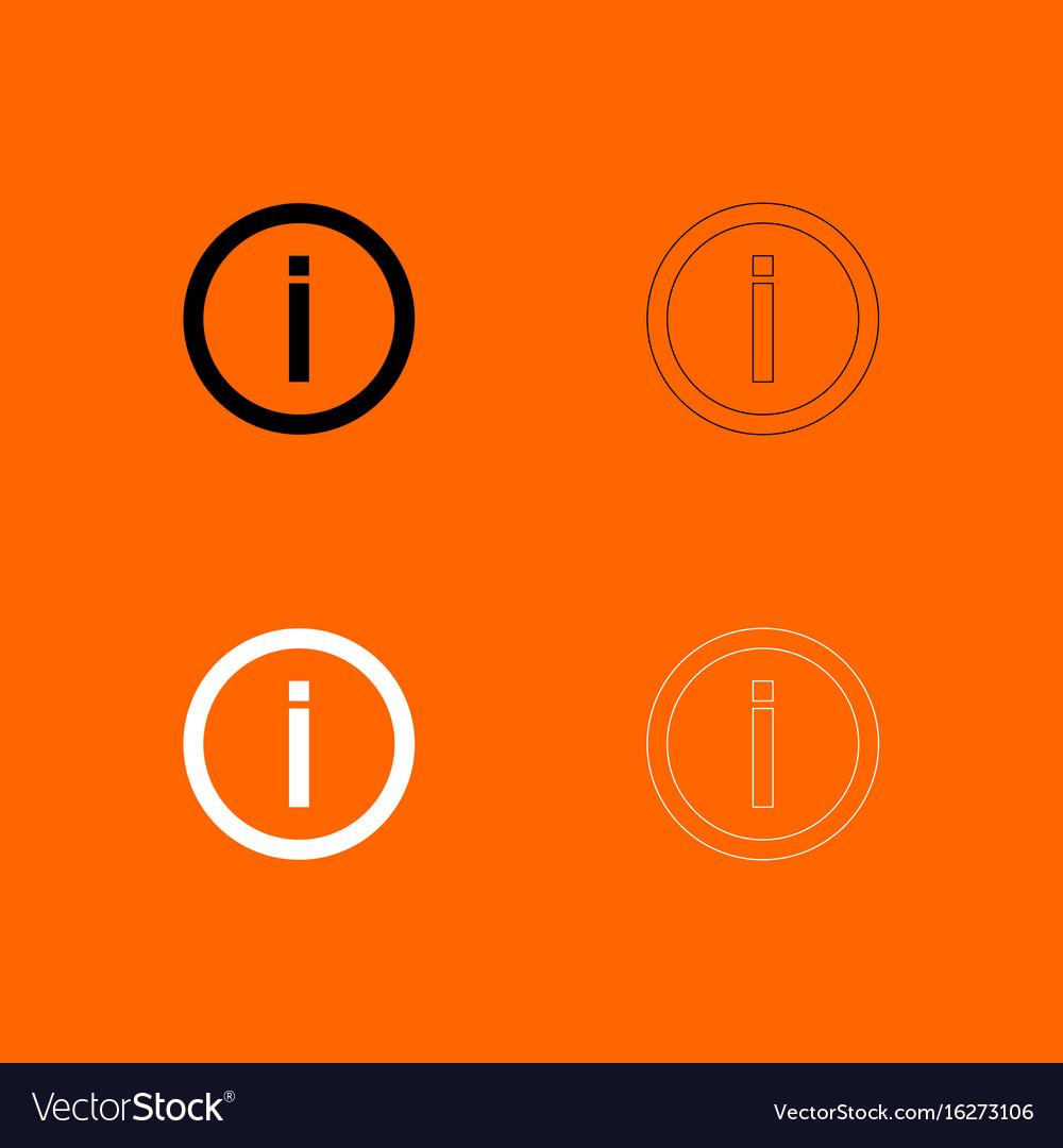 Information black and white set icon
