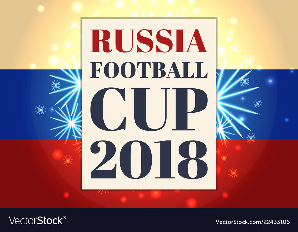 Russia football cup poster tricolor flag