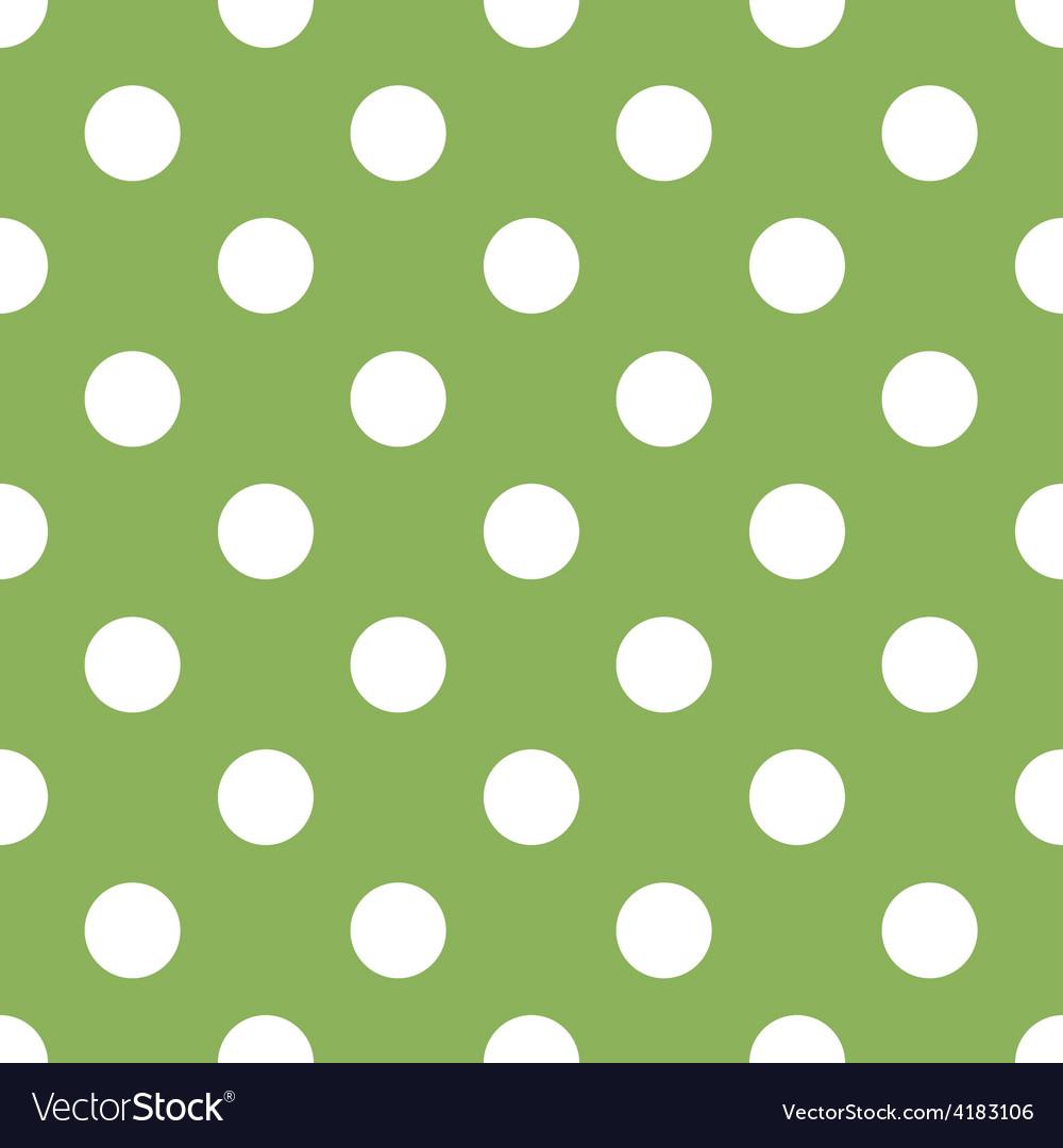 Seamless green polka dot