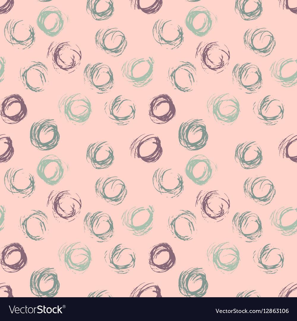 Seamless pattern with hand drawn grunge circles