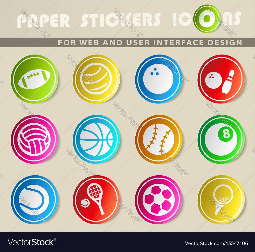 Sport balls icons vector image
