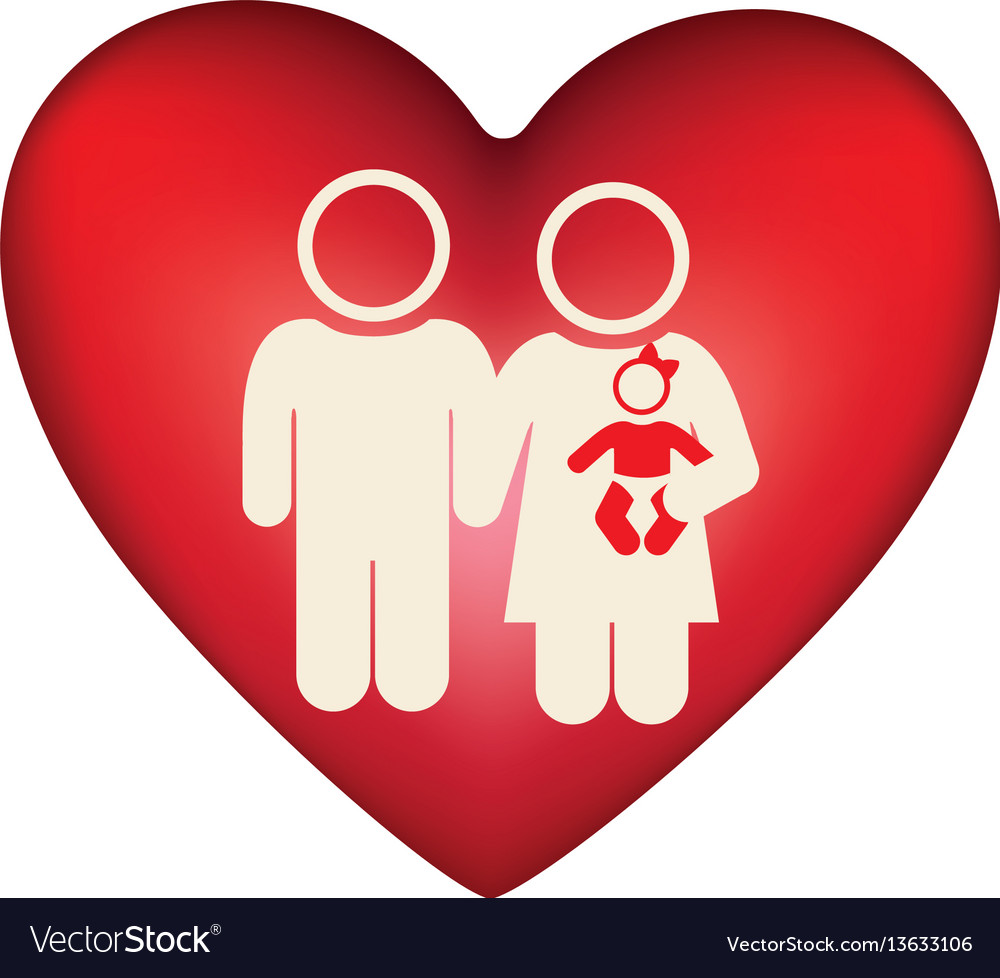 White background pictogram with heart and couple