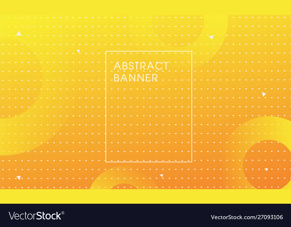 Yellow abstract trendy background design