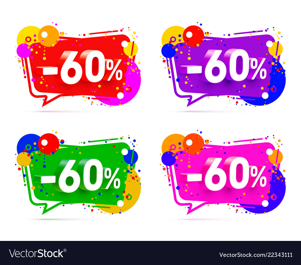 Banner 60 off with share discount percentage