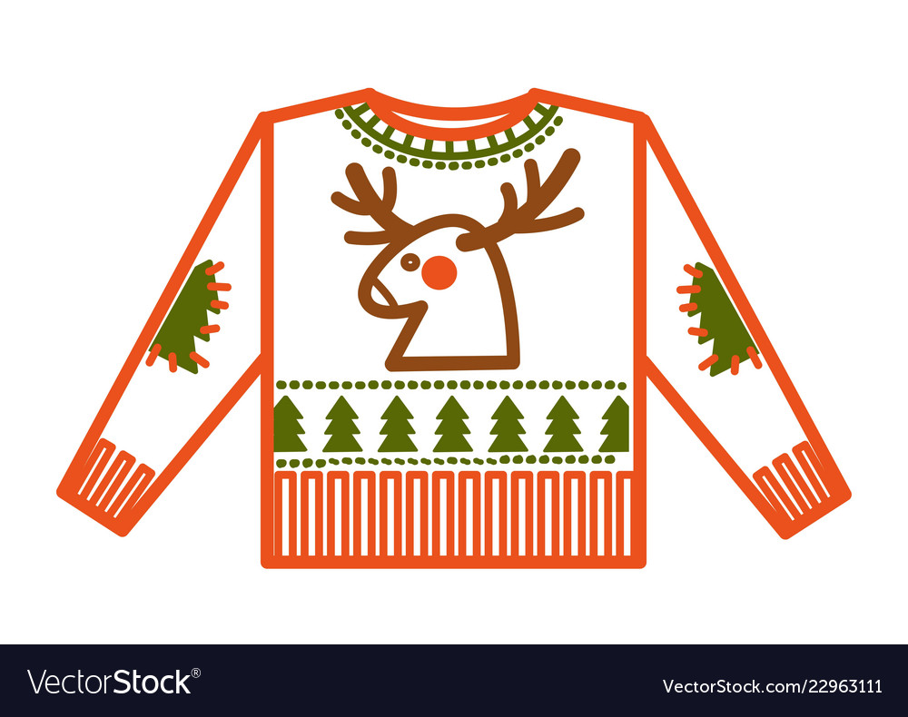 Christmas holiday knitted sweater with animalistic