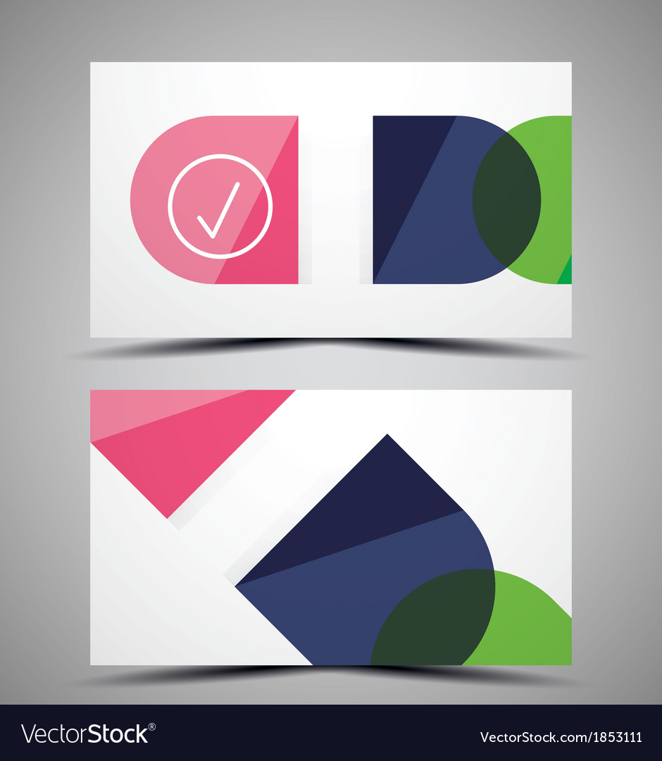 CMYK business card design template Royalty Free Vector Image
