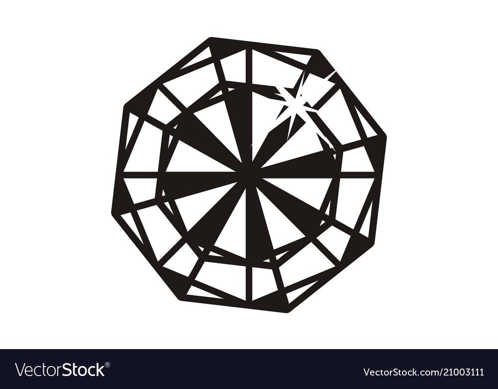 Diamond logo design template