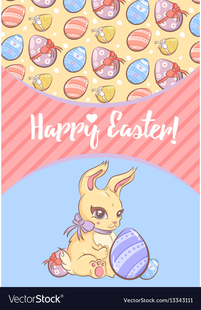 Greeting happy easter template