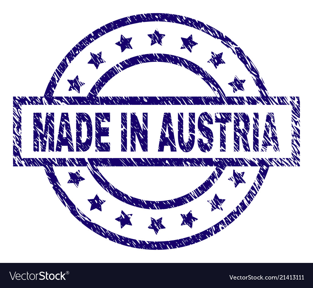 Grunge Textured Made In Austria Stamp Seal Vector Image