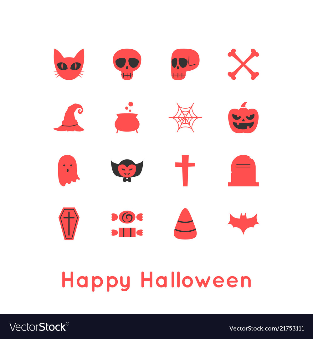 Happy halloween greeting card and icon