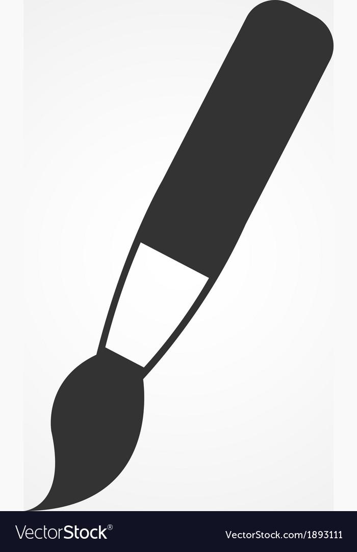 Paint brush icon flat design