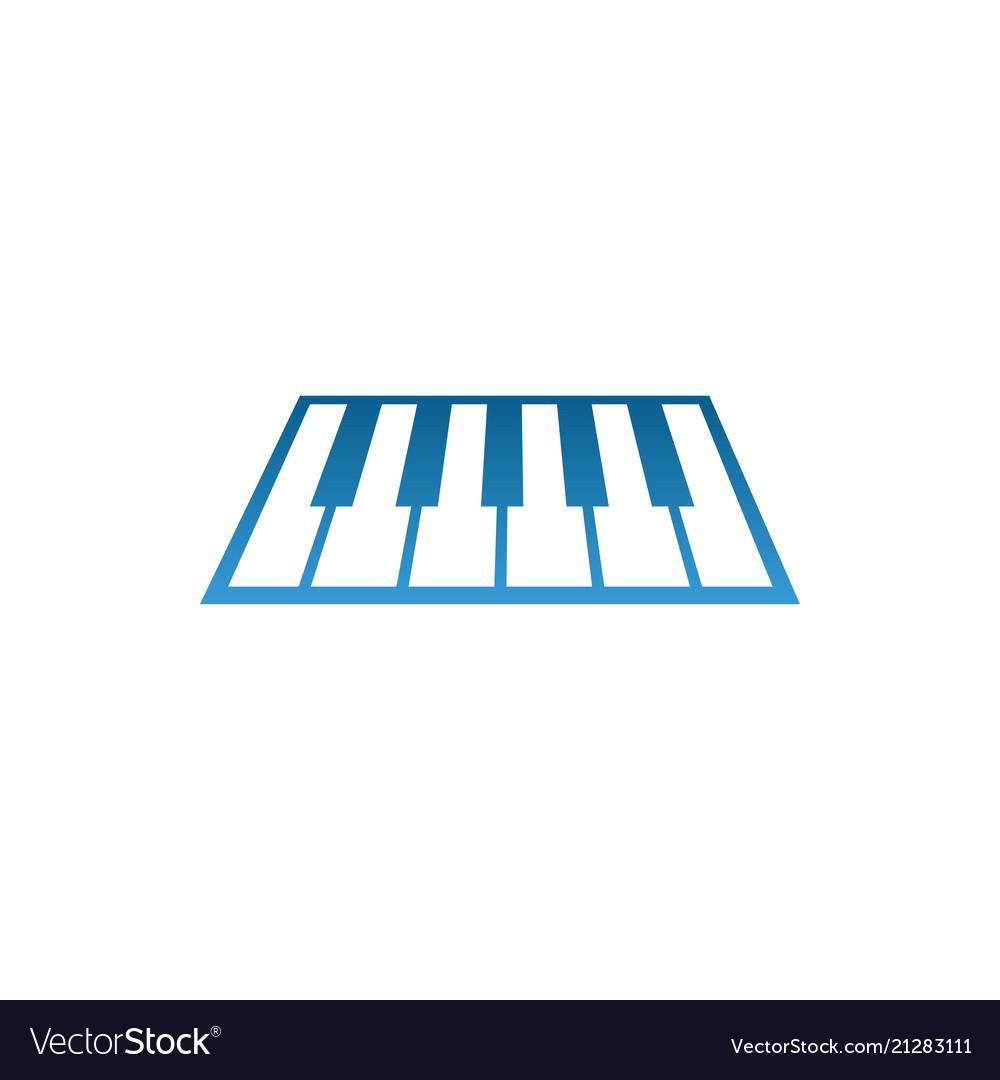 Piano music logo and icon design template