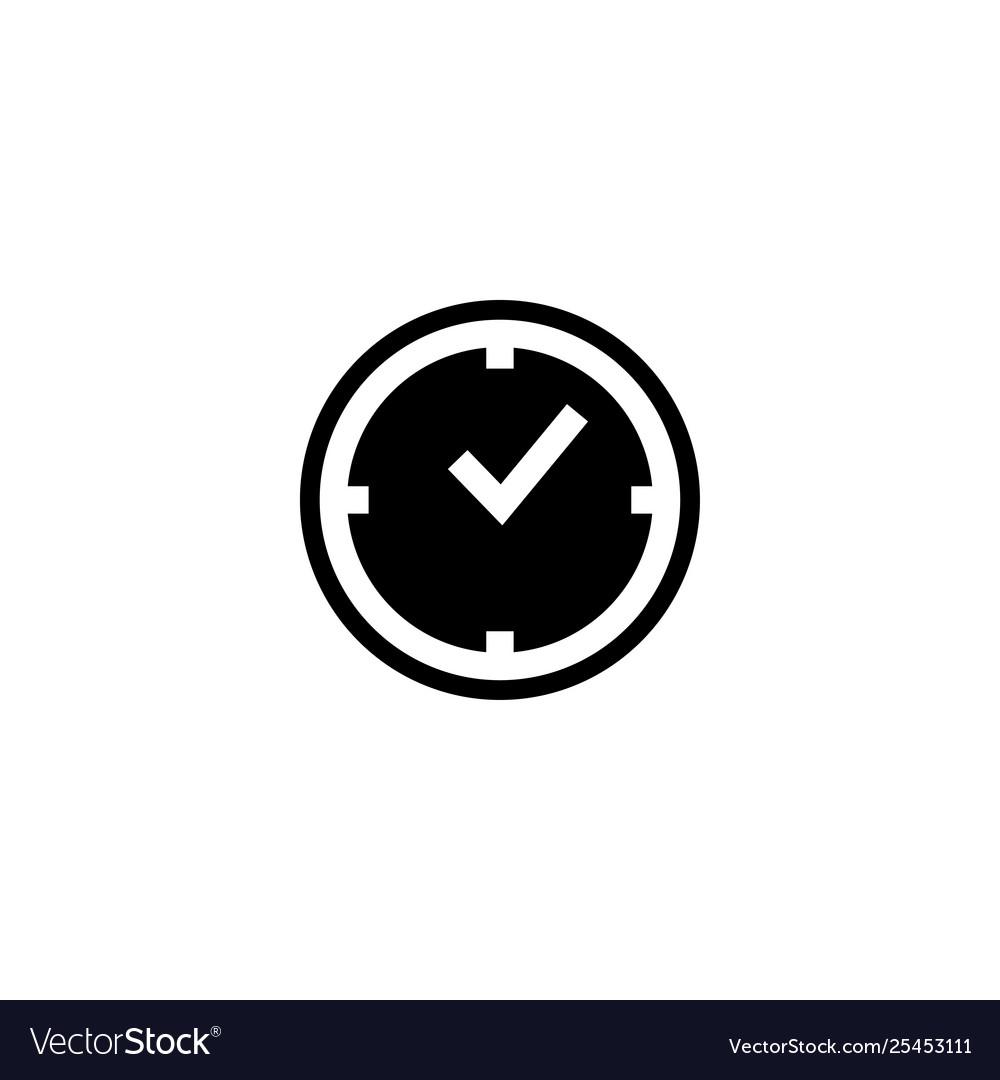 Time clock icon design template
