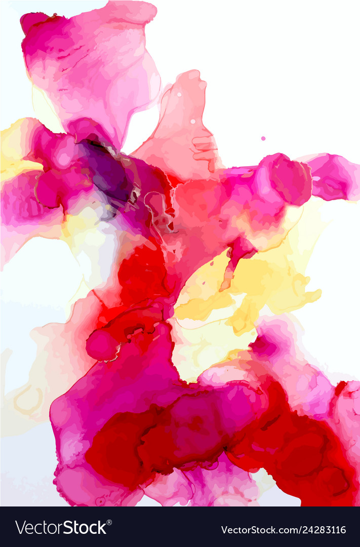 Abstract watercolor art hand painted