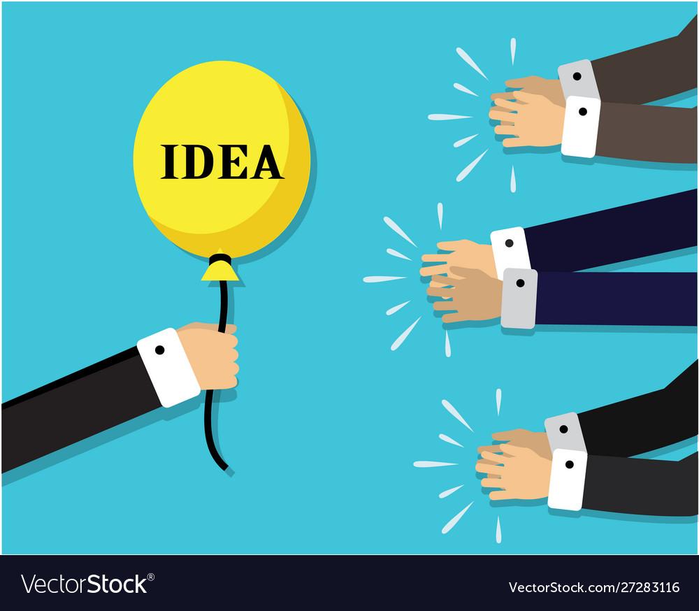 Balloon symbolizing idea and applause