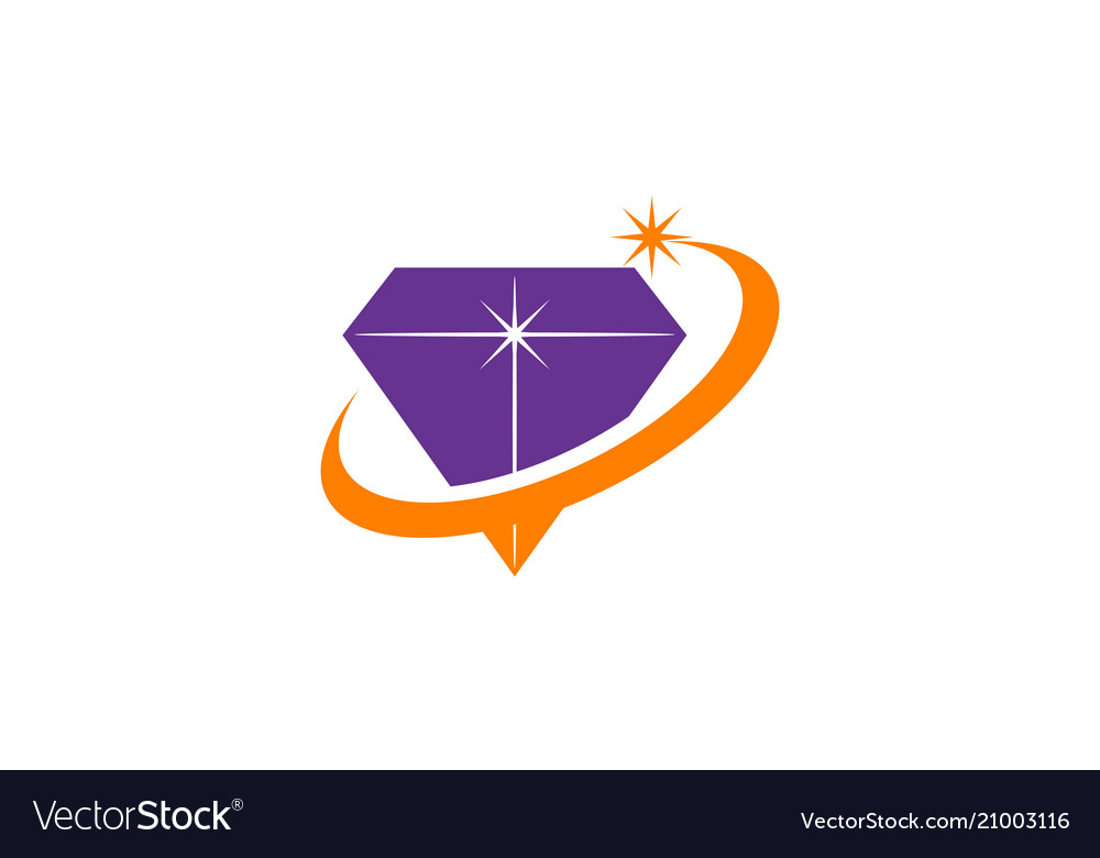 Diamond swoosh logo design template