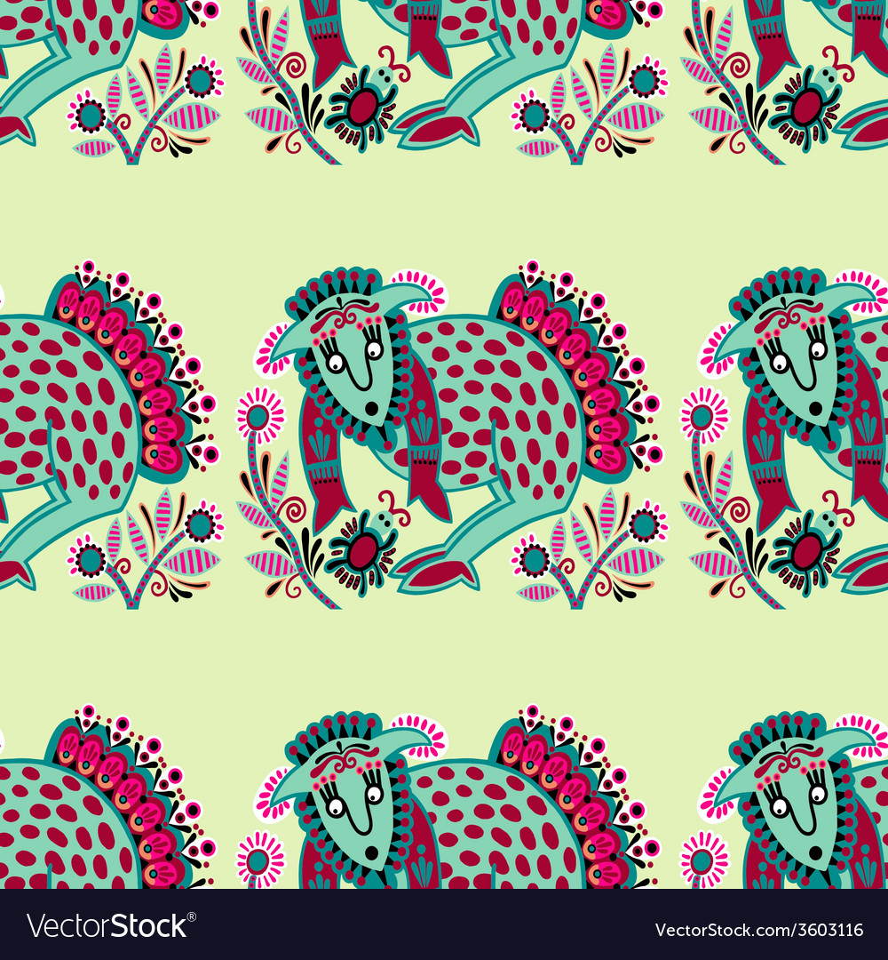 Ethnic seamless pattern fabric with unusual tribal