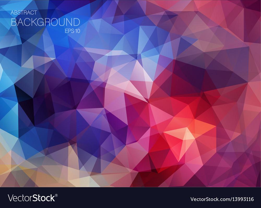 Flat Retro Color Geometric Triangle Wallpaper