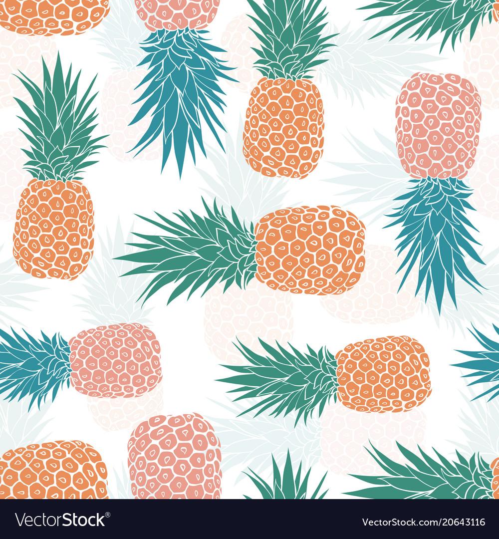 Geometric tribal pineapples seamless pattern