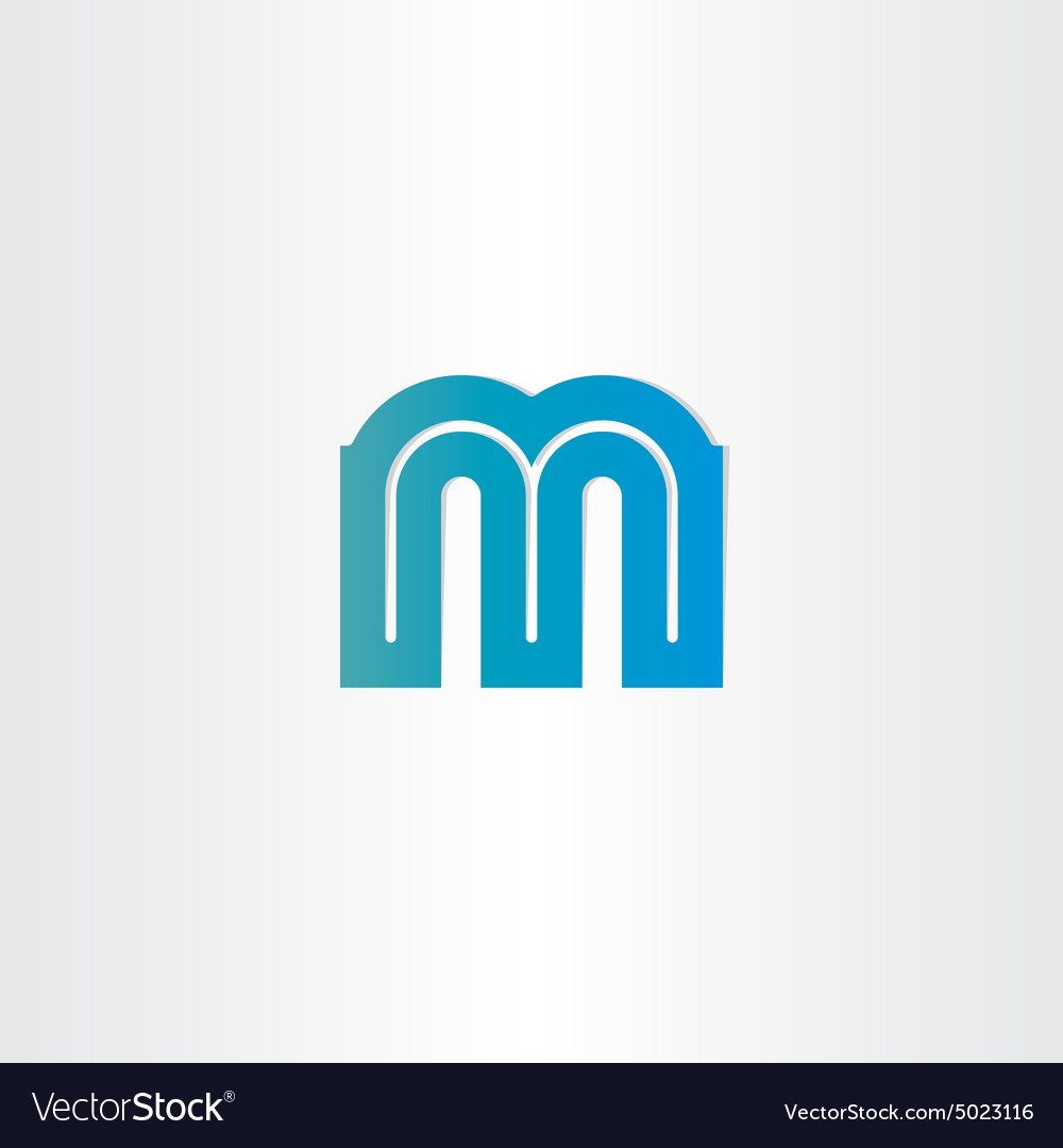 Letter m blue icon design