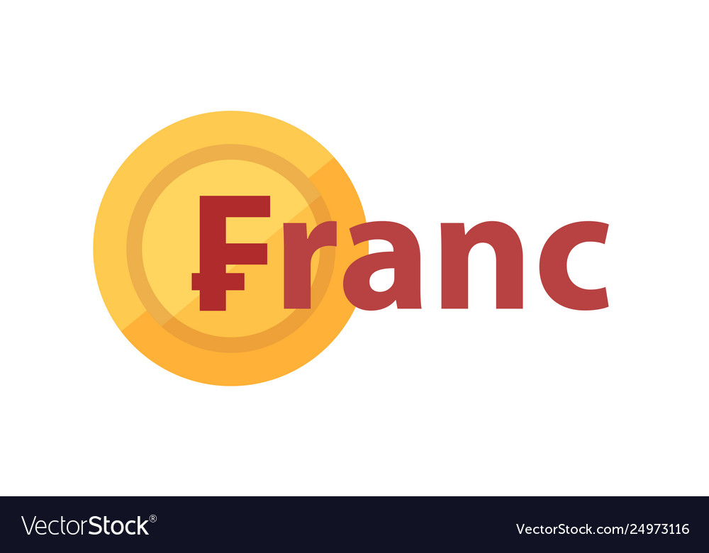 Logo with phrase - franc and golden coin