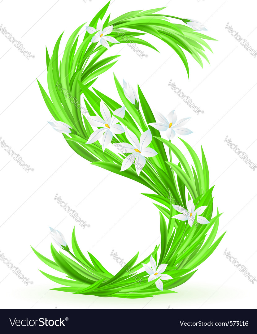 s alphabet images download  Spring flowers alphabet s vector