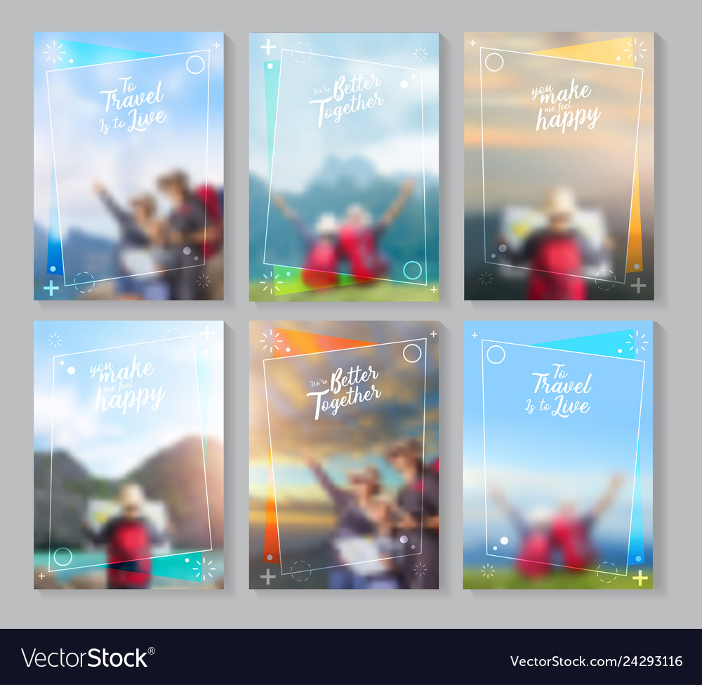 Travel brochure layout template idea concept