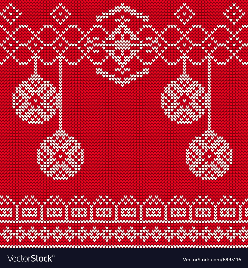 Christmas Sweater Background.Ugly Sweater Background 1 Vector Image