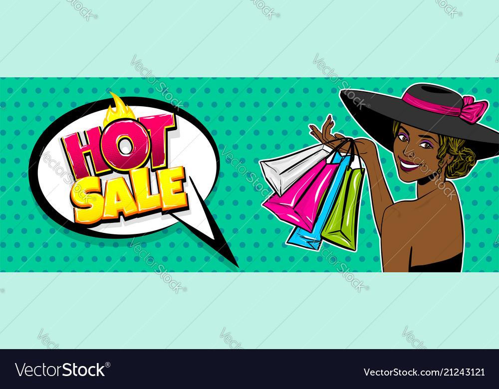 Black woman hat pop art season sale bag