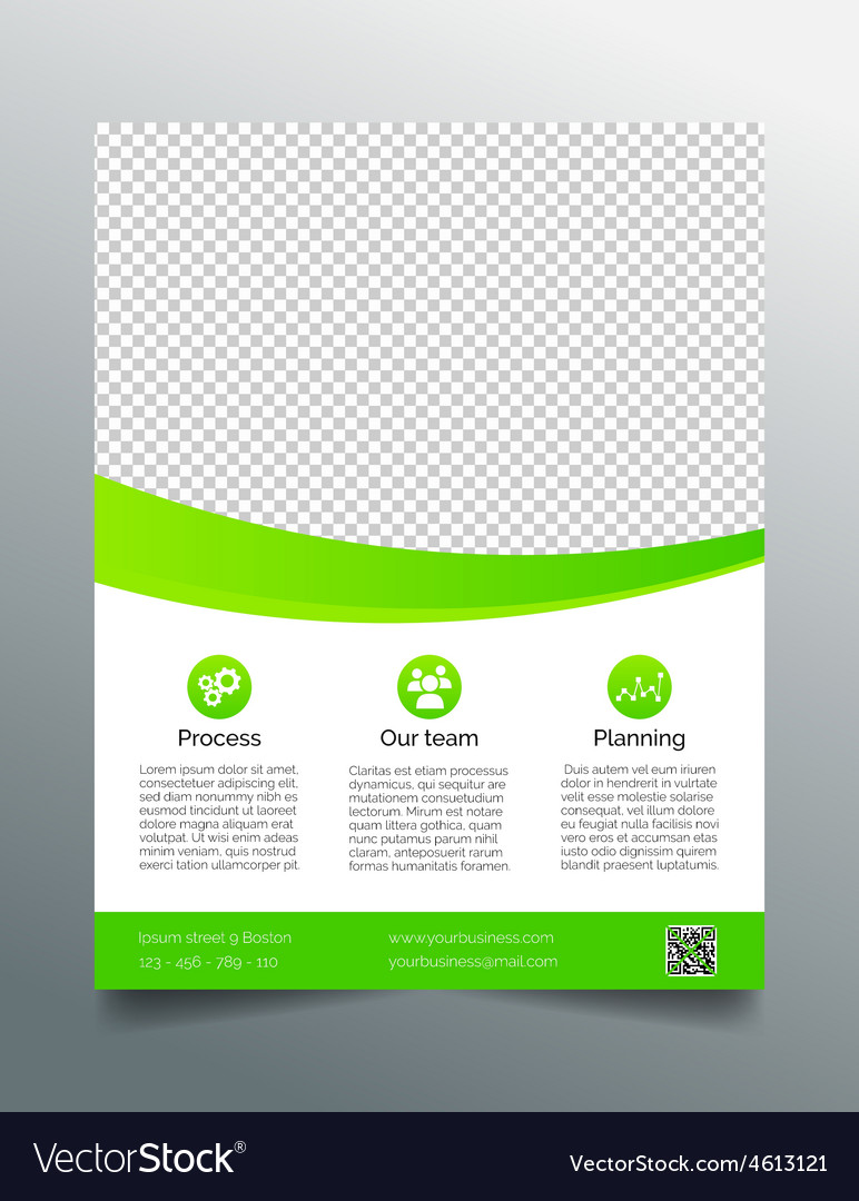 business flyer template simple sleek design vector image