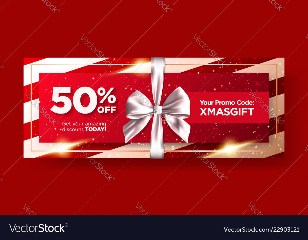 Christmas gift voucher or xmas gift card
