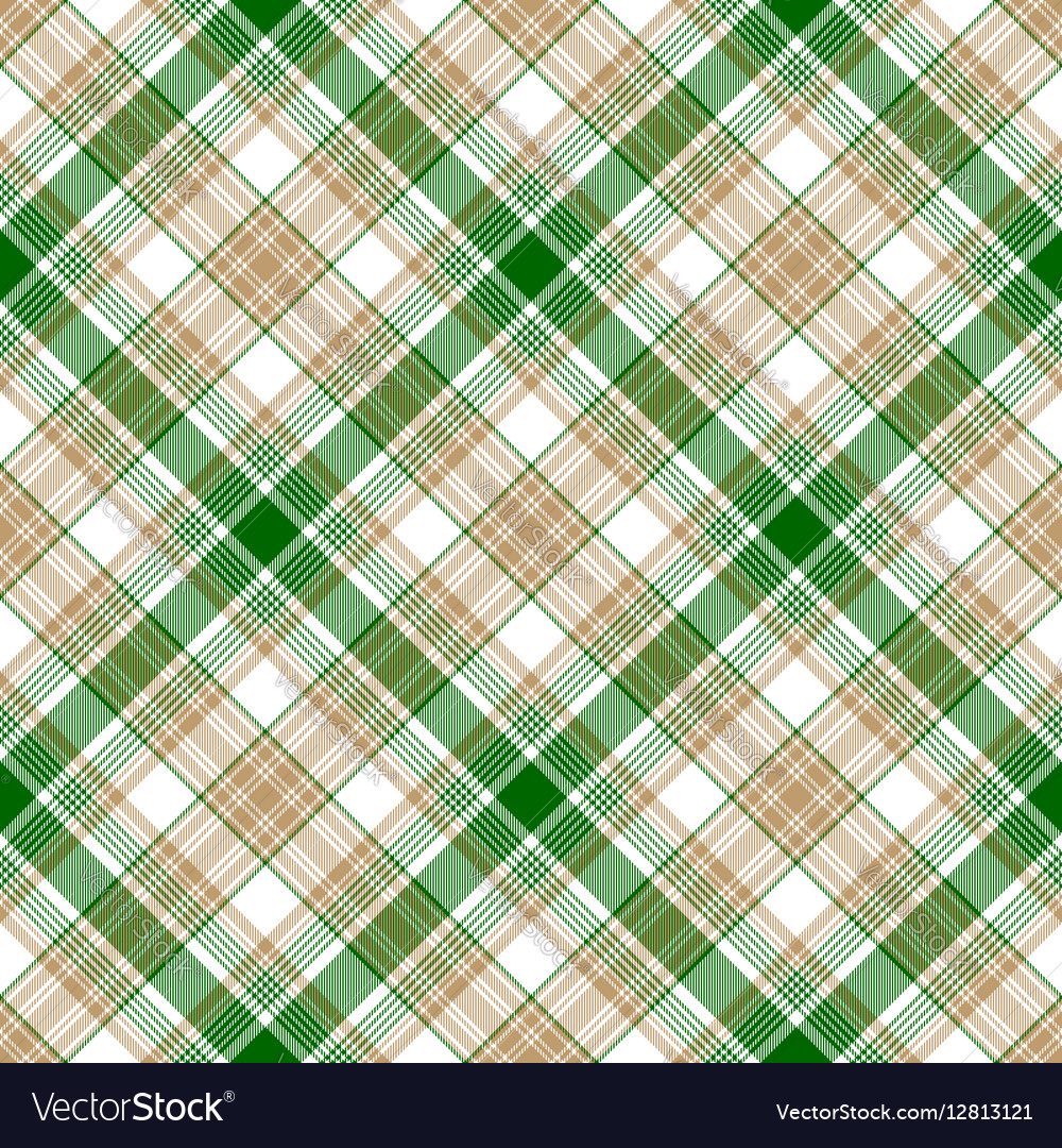 Green white beige fabric texture seamless pattern