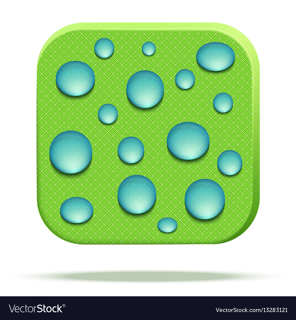 Icon of waterproof fabric vector image