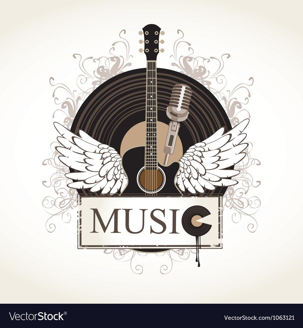 Music flourishes vector image
