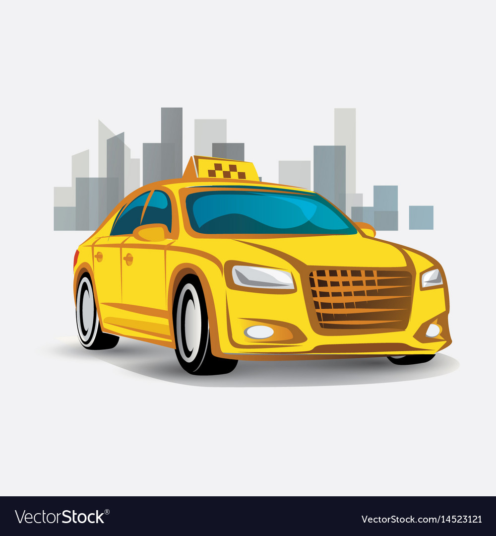 Taxi icon stylized symbol