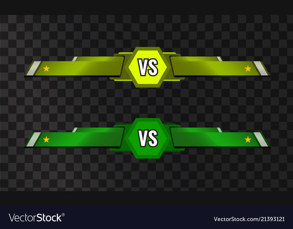 Vs Versus Template On Transparent Royalty Free Vector Image