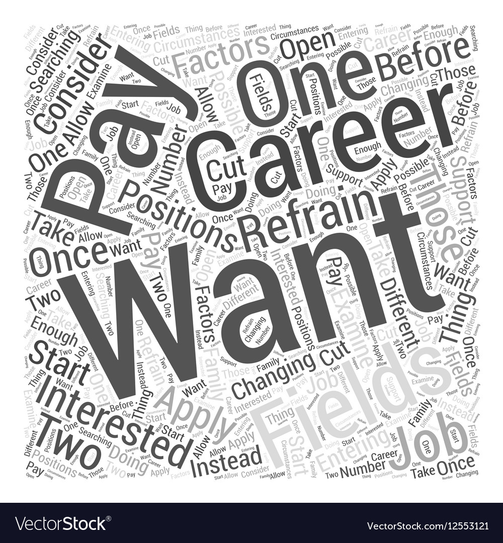 What to Consider Before Changing Career Fields vector image