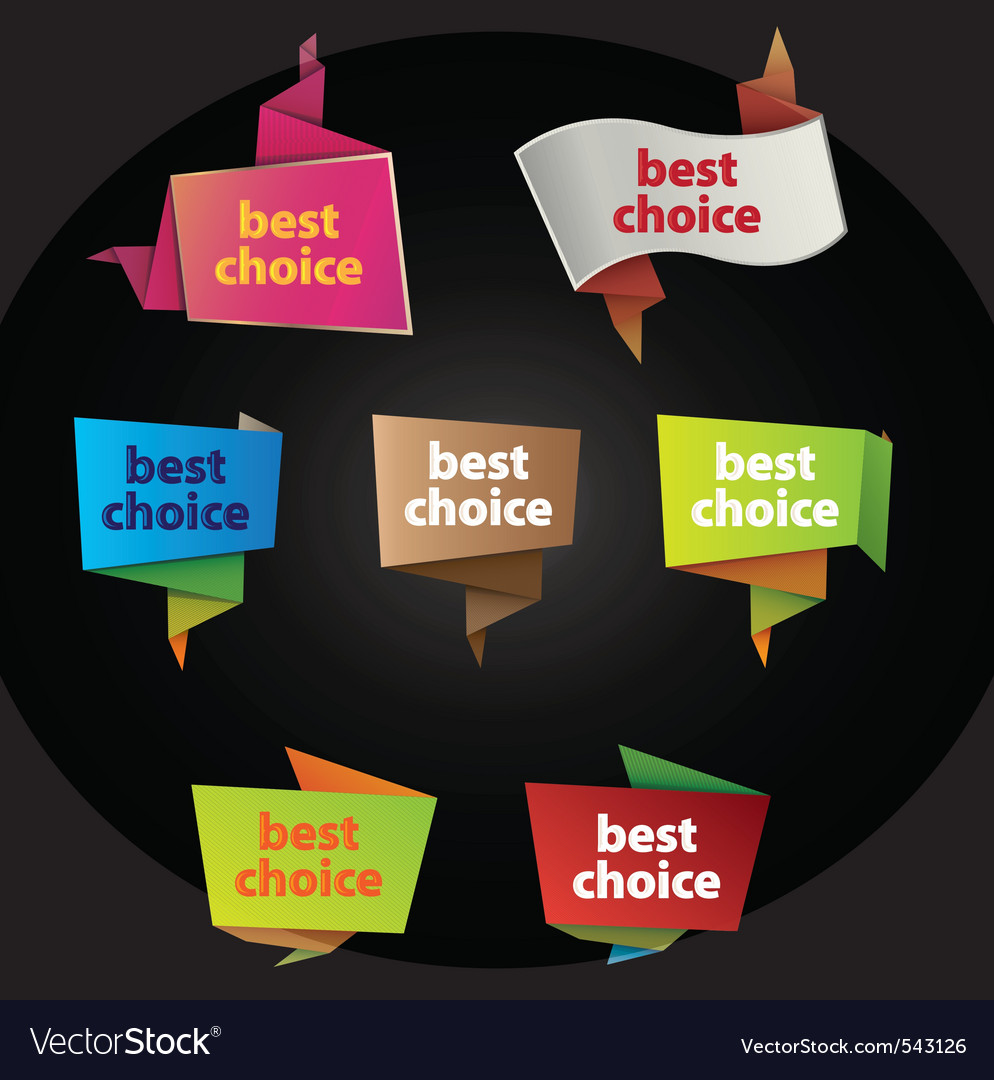 Best choice tags vector