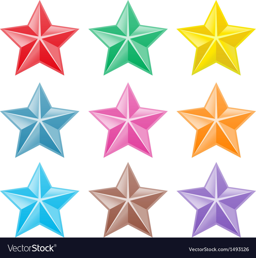 Collection of colorful stars