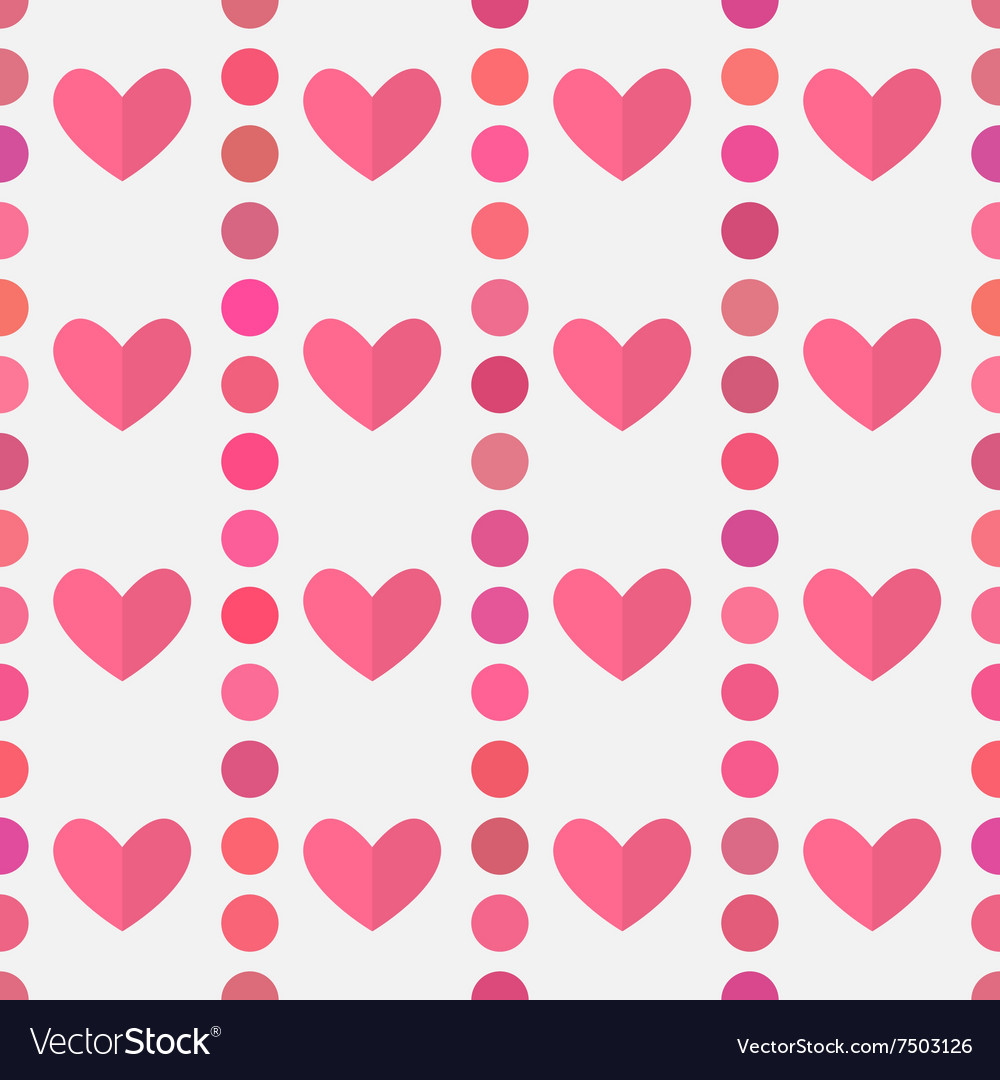 Hearts pink pattern