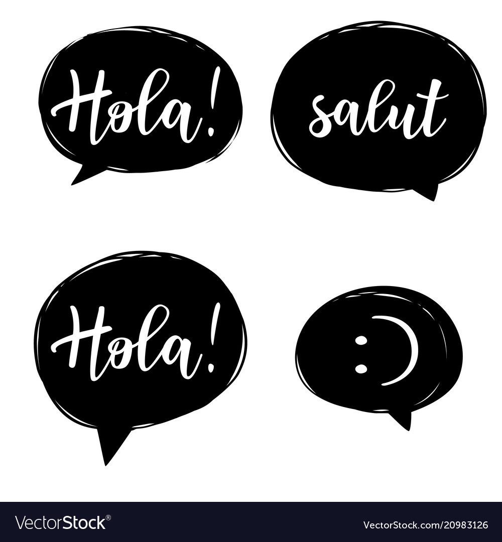 Hello In Different Languages Set Royalty Free Vector Image
