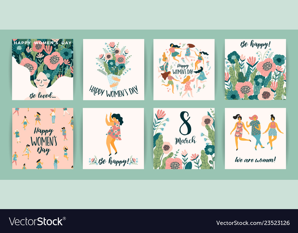 International women s day templates with