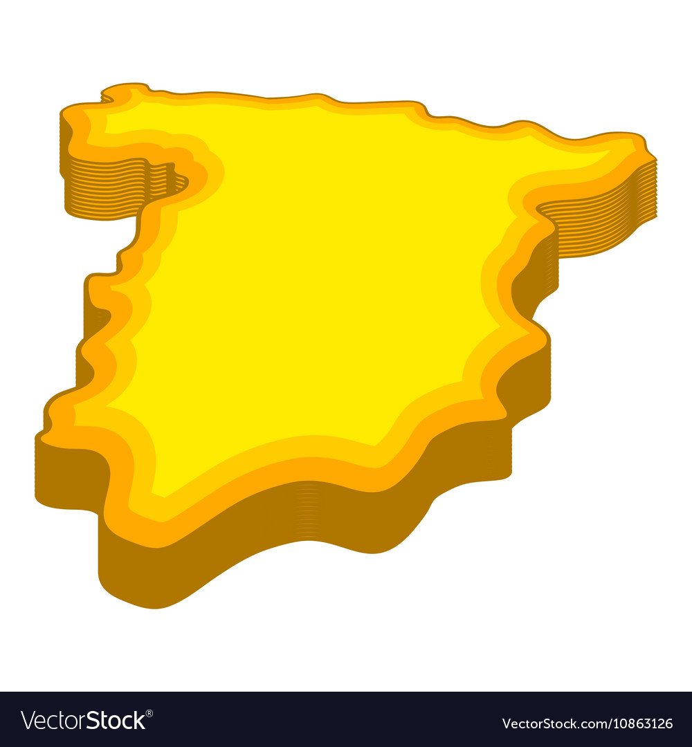 Map of Spain icon cartoon style