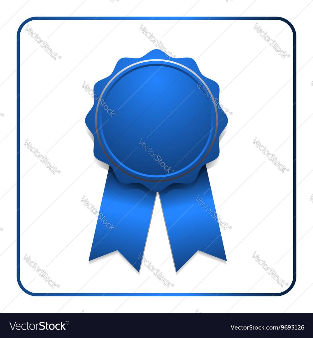 Ribbon award icon blue
