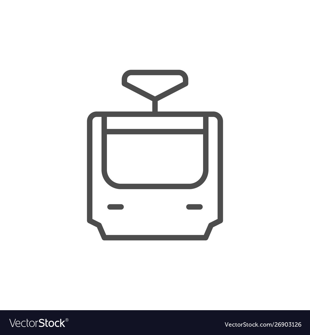 Tram line icon and public transport concept