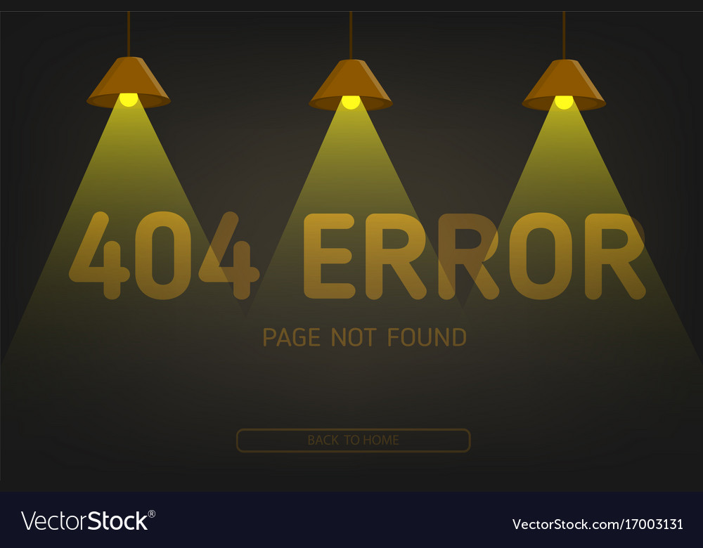 Error not found page with lighting royalty free vector