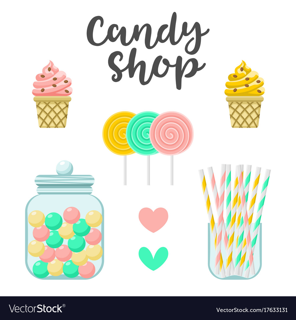 Candy shop sweets constructor colorful